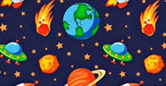 Bawimy się i uczymy online- Kosmos